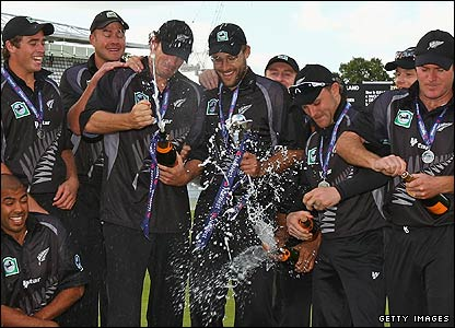 New Zealand celebrate at Lord's
