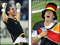 Iker Casillas and Bastian Schweinsteiger