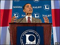 El demócrata Barack Obama