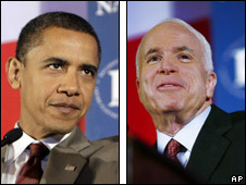 Barack Obama (left) and John McCain