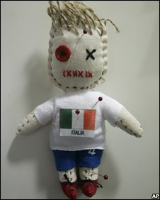 Voodoo doll of Italy, defeated by Spain in the quarter final