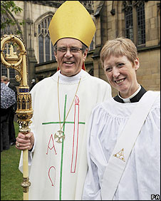 The Rt Revd Nigel McCulloch and his wife Celia
