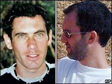 Eldad Regev (left) and Ehud Goldwasser - file photos