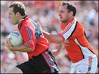 Action from the Down v Armagh Ulster semi-final at Clones