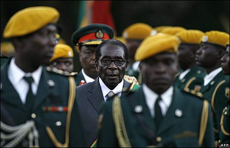 Zimbabwean President Robert Mugabe at his inauguration ceremony in Harare