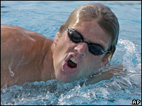 American swimmer Gary Hall Junior