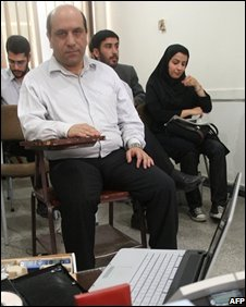 Defendant Ali Ashtari in court