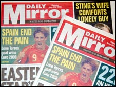 Copies of the Daily Mirror