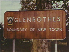 Early Glenrothes sign