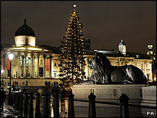 Trafalgar Square at Christmas 2007