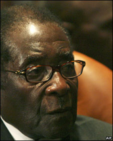 Robert Mugabe at the African Union meeting at Sharm el-Sheikh, Egypt, 30 June 2008