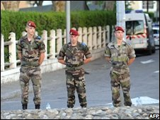 Members of the Third Marine Parachute Regiment based in Carcassonne, France