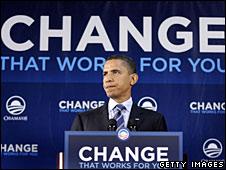 Barack Obama campaigning