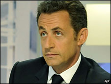 Nicolas Sarkozy speaks on France 3 television, 30 June