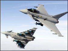Eurofighter Typhoon aircraft (picture: MOD)