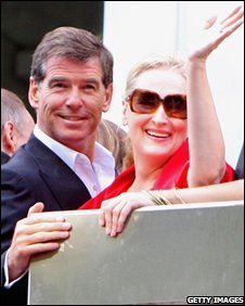 Pierce Brosnan and Meryl Streep