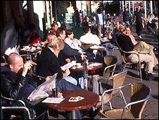 Amsterdam cafe - file photo