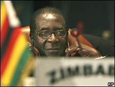 Robert Mugabe at the AU summit on 30 June 2008