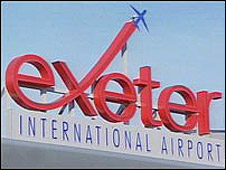 Exeter Airport sign