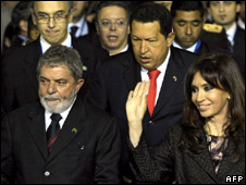 Regional leaders at the Mercosur summit in Tucuman