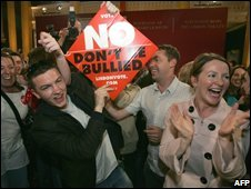 No voters celebrate in Dublin (file image)