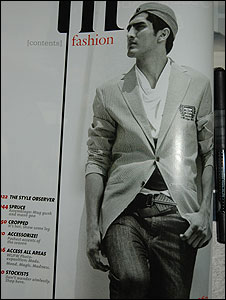 Vijender modelling for a magazine (Photo: Soutik Biswas]