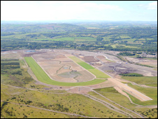 Ffos Las from the air
