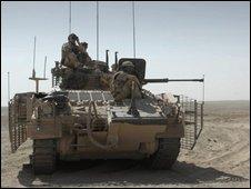 British tank in Afghanistan