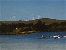 Artist view of proposed turbines at Carsington