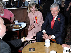 Jack Straw at a working men's club in Crewe