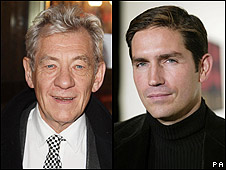 Sir Ian McKellen and Jim Caviezel