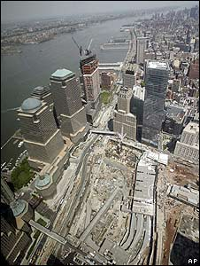 Aerial view of Ground Zero (May 2008)