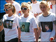 Ben's sister march for Ben Kinsella