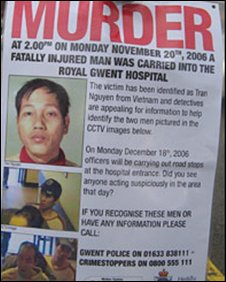 Poster appealing for information about the murder