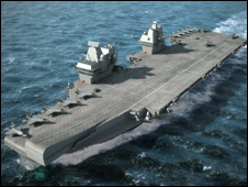 Artists impression of the new carrier