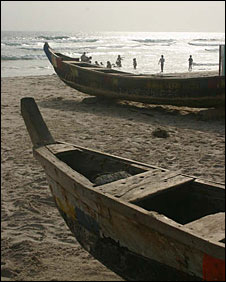 Fishing boats in Ivory Coast