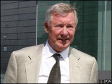 Sir Alex Ferguson arriving at the court