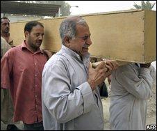 Baquba victim being buried