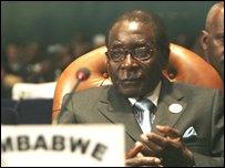 روبرت موجابي في مؤتمر الإتحاد الافريقي