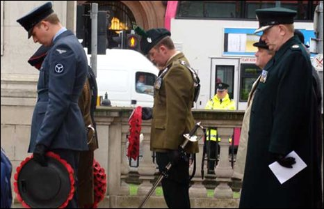 Representative from the various armed forces paid their respects.