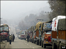 File picture of trucks in India