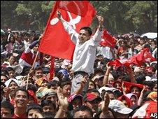 Maoists supporters in Kathmandu