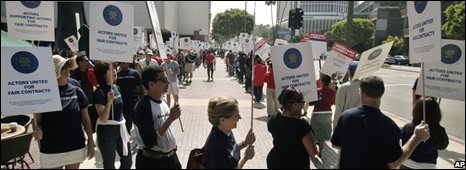 Sreen Actors Guild rally