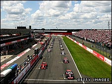 The start of last year's British Grand Prix