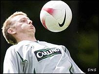 Celtic striker Derek Riordan