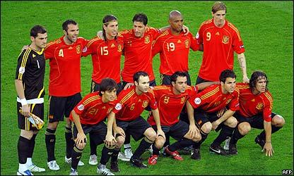 La selecci�n de Espa�a campeona de Europa