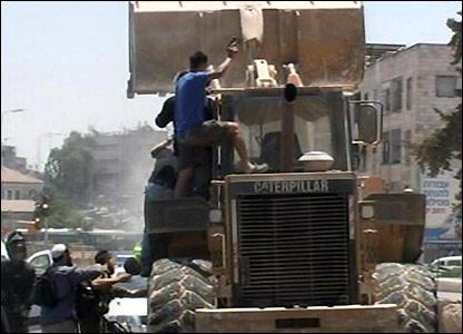 Bulldozer attack