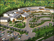 An artist's impression of the new Cynon Valley hospital