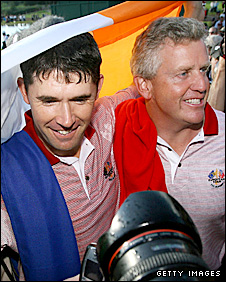 Padraig Harrington and Colin Montgomerie were team-mates for Europe in the 2006 win at the K Club