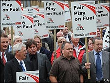 Fuel protesters